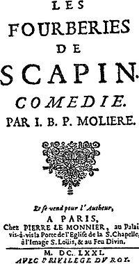 Les Fourberies de Scapin cover
