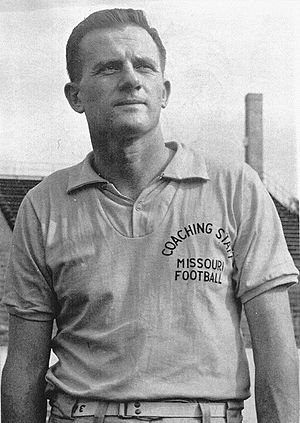 Frank Broyles - Broyles as Missouri Tigers head coach in 1957
