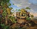 Franz Xaver Petter Stillleben mit Weintrauben und Pistole 1856.jpg