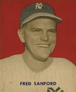 Fred Sanford (baseball) - Sanford's 1949 Bowman Gum baseball card