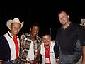 Freddie Mitchell, Jon Runyan, and Neal McCoy in 2003.jpg
