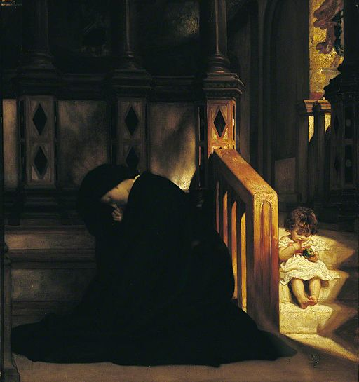 The Widow's Prayer by Frederic Leighton