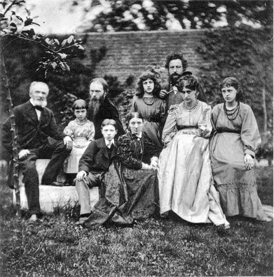 Burne-Jones and Morris families, 1874