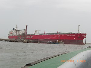 Port of Karachi - A freightliner at the dock