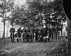 William H. French - General William H. French and staff in September 1863