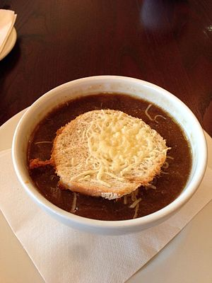 French onion soup - Bowl of French onion soup