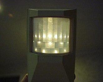 Passive infrared sensor - Image: Fresnel only