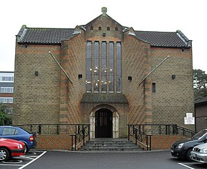 Friary Church of St Francis and St Anthony, Crawley - The church from the north