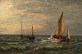 Friedrich Ernst Morgenstern - Zwei Fischkutter auf hoher See.jpg