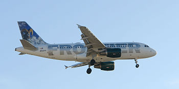 Frontier Airlines - Airbus on short final