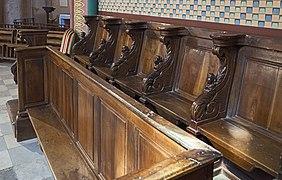Fronton - stalles de ancienne abbaye de Granselve PM31000230.jpg