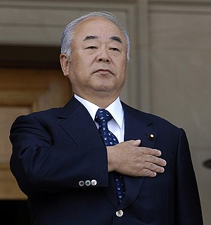 Minister of Defense (Japan) - Image: Fumio Kyuma in Pentagon