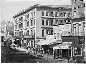 Montgomery Block - The Montgomery Block in 1862