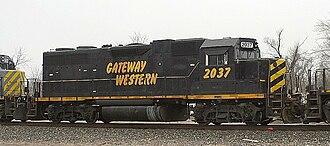 Gateway Western Railway - Image: GWWR 2037 EMD GP38