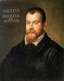 Galileo Galilei par Domenico Robusti en 1605.