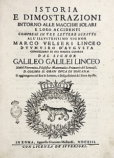 <i>Letters on Sunspots</i>