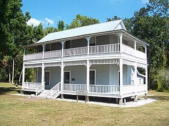Gamble Plantation Historic State Park - Patten House, built 1872 (photo, 2010)