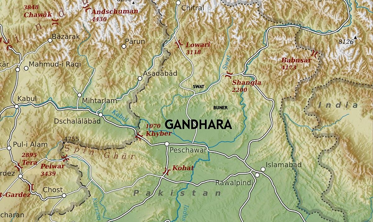 File Gandhara Map Jpg Wikimedia Commons