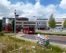 Garbage and Buses at the Hospital - geograph.org.uk - 3520106.jpg