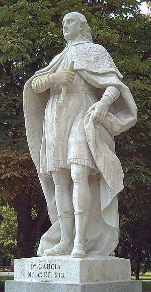 García I of León - 18th-century statue in Madrid