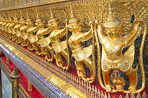 Thai art - Garudas in Wat Phra Kaew, Bangkok