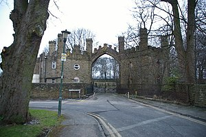 Huntroyde Hall -  Huntroyde Hall Gatehouse (now detached from house and grounds)