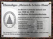 Gedenktafel Schönwalder Allee 26 (Haken) Heinrich Schütz Haus