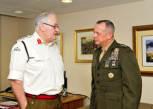 Peter Wall (British Army officer) - Wall meets with General John R. Allen, commander ISAF, in January 2012.