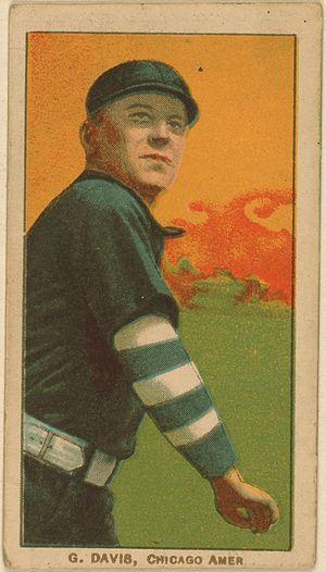 George Davis (baseball) - George Davis baseball card (1909–1911)