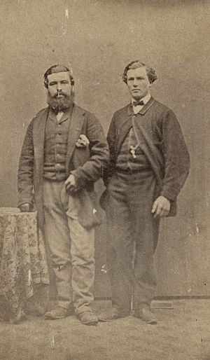 Edward Dobson - George Dobson (1840–1866; right) and Herbert Howitt, taken before 1863