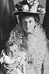 Olga FitzGeorge and her son