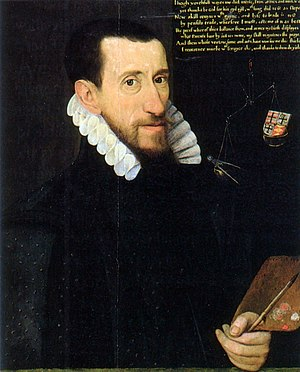 Serjeant Painter - George Gower, self-portrait, 1579, private collection.