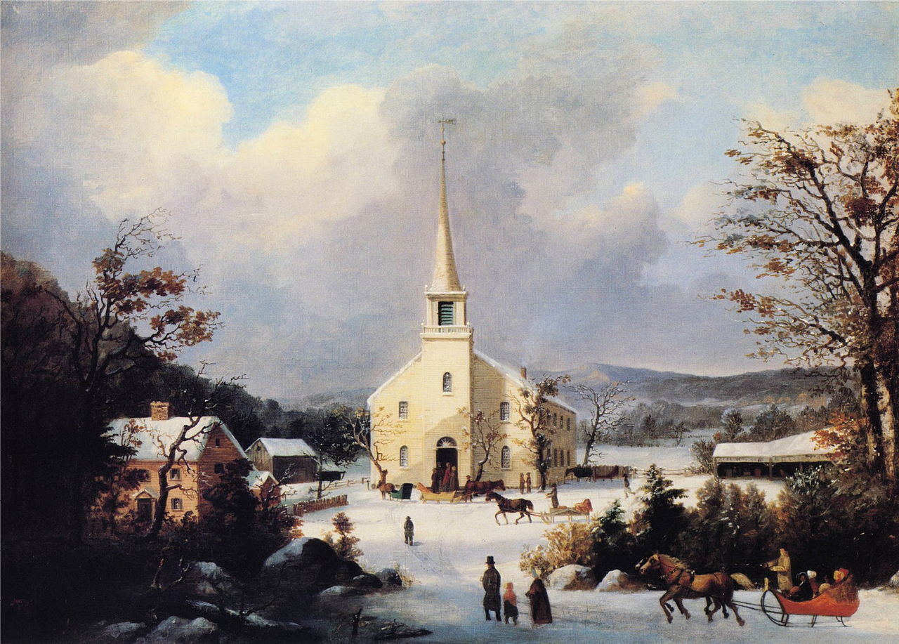 https://upload.wikimedia.org/wikipedia/commons/thumb/9/94/George_Henry_Durrie_-_Going_to_Church.JPG/1280px-George_Henry_Durrie_-_Going_to_Church.JPG