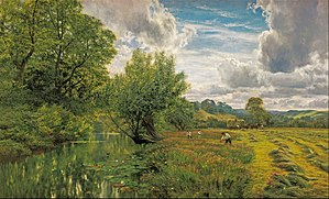 George Vicat Cole - Hayfield, near Days' Lock (1891)