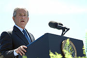 George W. Bush speaks at Coast Guard commencement
