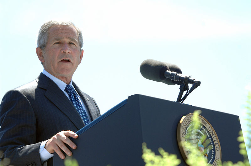 File:George W. Bush speaks at Coast Guard commencement.jpg