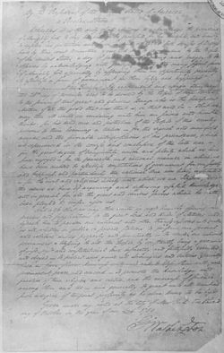 Cursive document of George Washington's October 3, 1789, Thanksgiving Day Proclamation