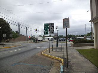 Georgia State Route 7 - Southern terminus of SR 7 Alt. at North Patterson Street and West Magnolia Street
