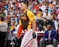 Giancarlo Stanton competes in semis of '16 T-Mobile -HRDerby. (28496640761).jpg