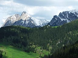 Giewont and Wielka Turnia