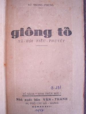 Vũ Trọng Phụng - The peasant novel Giông Tố (The Storm) 1936