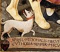 Giovanni di piamonte, arcangelo raffaele e tobiolo, 1467, 04 cane.jpg