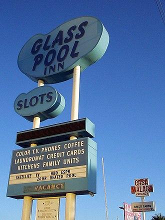 Glass Pool Inn - The Glass Pool Inn sign (October 2003)