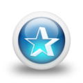 Glossy 3d blue star shadow.png