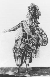 Jean-Joseph Rousseau als Renaud in Armide, um 1780 (Quelle: Wikimedia)