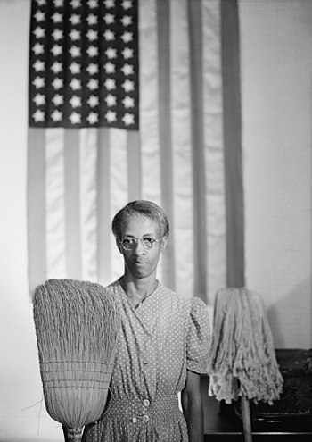 Gordon Parks' American Gothic. Portrait of gov...