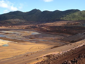 Economy of New Caledonia - Image: Goro mine tailings dam