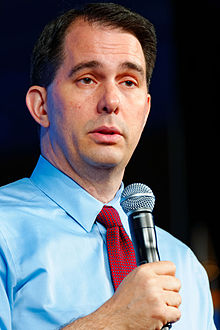 Governor Scott Walker of Wisconsin at Southern Republican Leadership Conference in Oklahoma City, OK 1 May 2015 by Michael Vadon 05.jpg