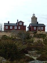 Fil:Grönskärs fyrplats hus och fyr ön.JPG