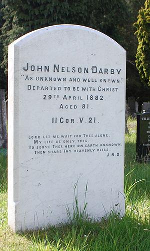 John Nelson Darby - Gravestone of John Nelson Darby